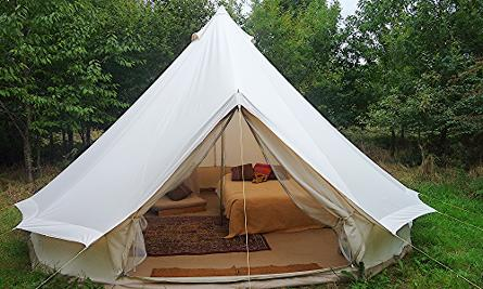 somerset glamping holiday bell tent, bell tent's, bell tense, bell tence, bell tents woodlandescape.co.uk
